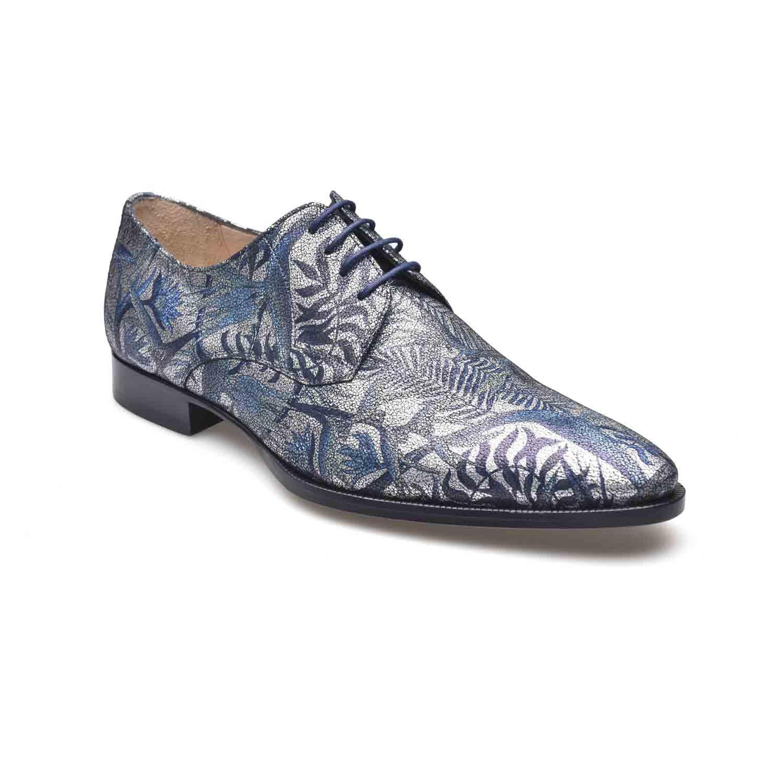 Heren schoenen bruidegom Giungla Argento 6367 Silver Petrol Blue leaf