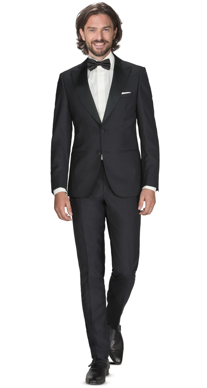 smoking-black-tie-zwart-peak-lapel-wol-011300033