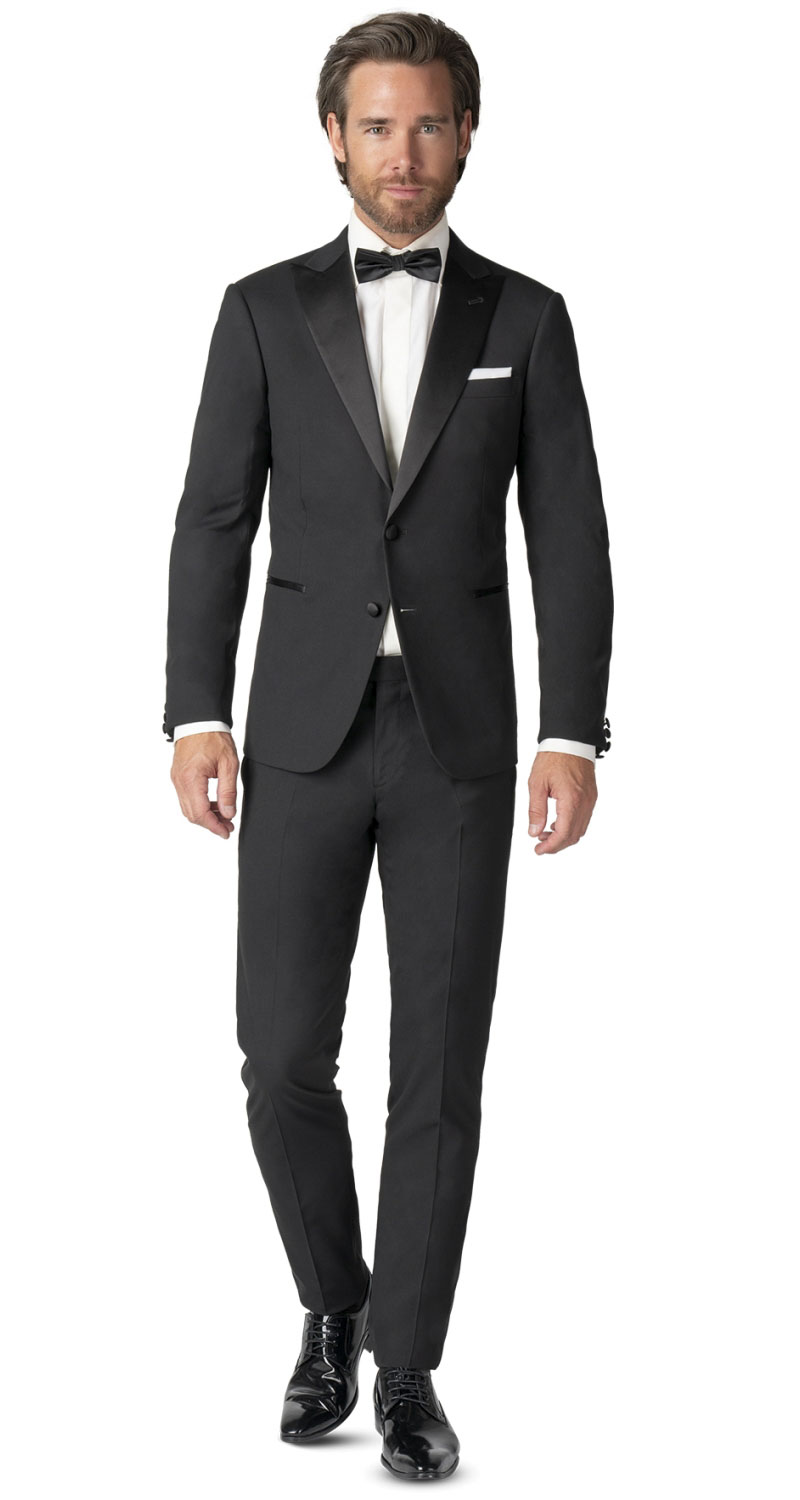 smoking-black-tie-zwart-zuiver-wol-s100-peak-011300062